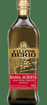 olio extra vergine di oliva bassa acidità